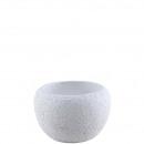 grossiste Plantes et pots: pot en céramique Basi , D15cm, H10,5cm, blanc